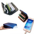 RFID Blocking Anti Scan Aluminum Power Bank Credit Card Holder with LED Light