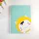 Yiwu promotion cute diary spiral notebook, school notebook