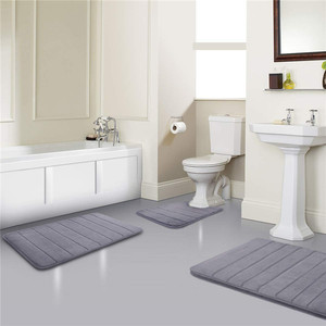 Washable Bathroom Design Absorbent Waterproof Bath Mat