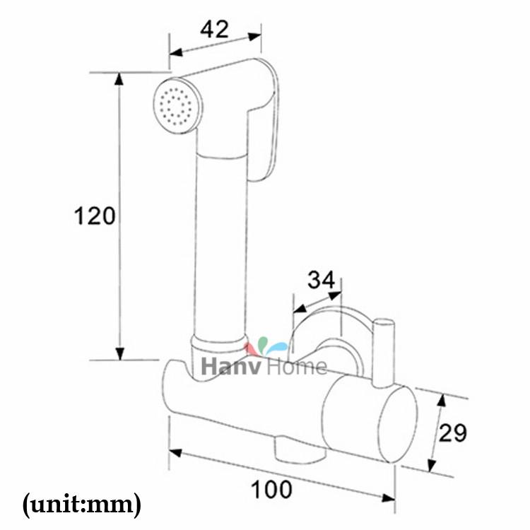 Thermostatic Mixing Valve Brass Shattaf Bidet Sprayer Shower Set