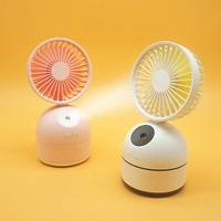 2000mAh USB Rechargeable Spray Mist Humidifier Mini Stand Fan for Office
