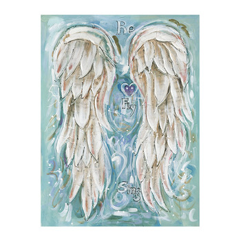 Poster printing inkjet powerful wing home decoration painting Feather  Angel Wings Wall Art Designs