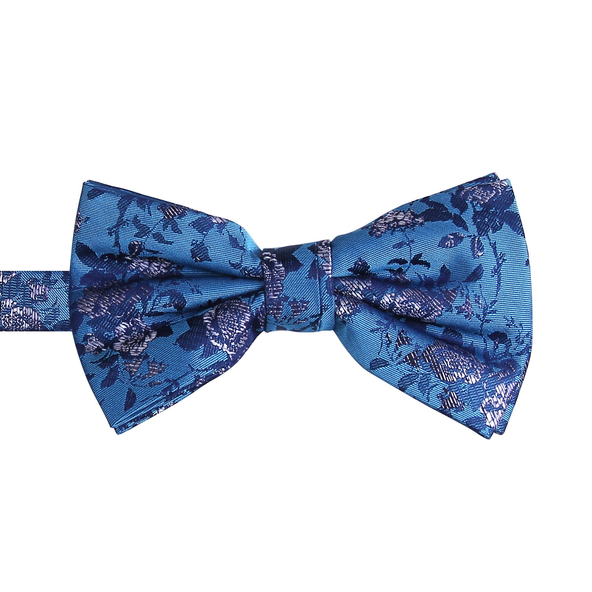New Fashion High Quality <strong>Blue</strong> <strong>Flower</strong> Printed polyester Bow <strong>Ties</strong>