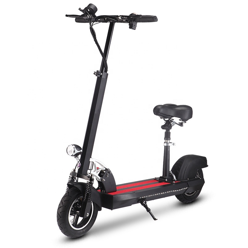 2019 Trending Adult Foldable Electric Powered Scooter Anti Theft Off Road E Scooter 500W with Seat, Black