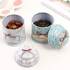 lovely and fancy tin tea tin hot sale Christmas gift candy tin