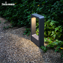 Savia hot modern  aluminum garden light pole lamp LED 7W IP44 3000k waterproof outdoor post lamp led garden street pathway light