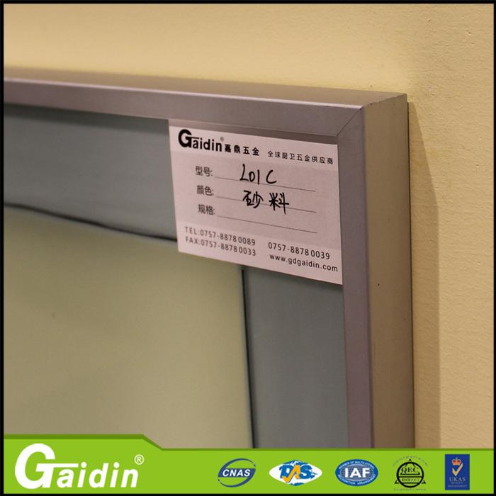 Mueble de cocina de aluminio de la puerta de cristal del - Puerta armario cocina cristal ...