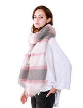 Mode rose femmes impression plaid écharpe <span class=keywords><strong>pashmina</strong></span>
