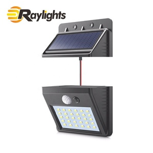 Outdoor wireless solar powered motion sensor 30pcs led/COB security wall flood light