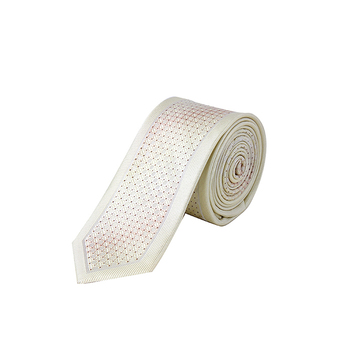 Custom creamy white polyester neck tie men tie