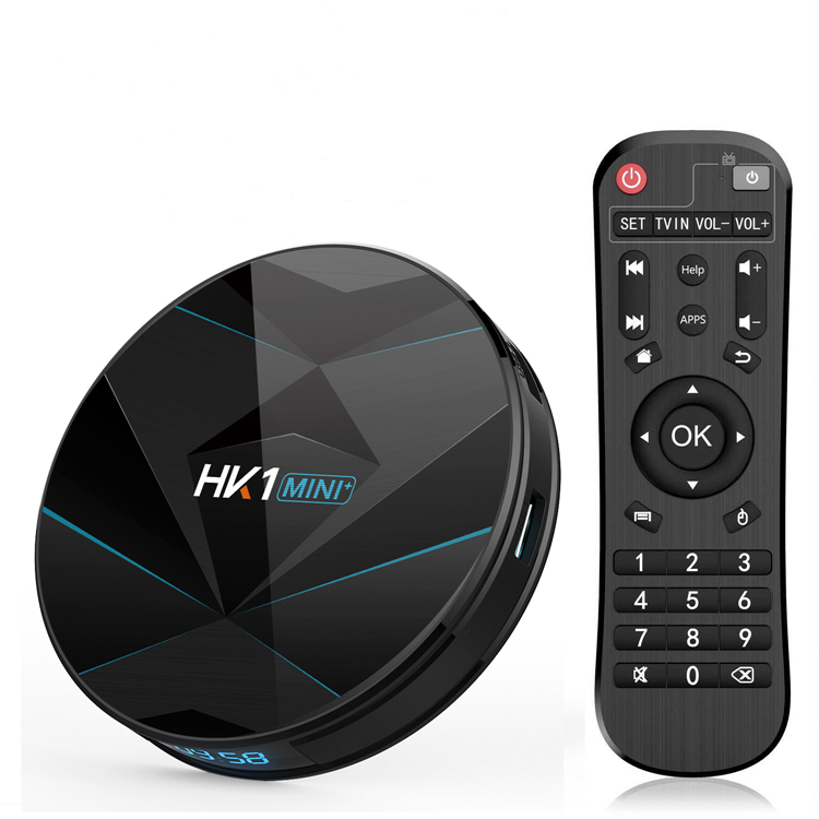 Nueva llegada hk1 mini plus RK3318 TV box 4 GB 64 GB Android 9,0 OS Smart set top box