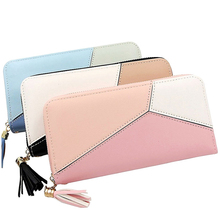 여성 Girls 긴 Clutch Wallet PU Leather 여행 Zip 전 지갑-Card 폰 슬롯 Zipper Purse