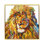 Lion King Colorful Hand Painted Animal Oil Painting Wall Decoration For Living Room