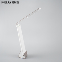 Folding cordless rechargeable handy desk LED lamp