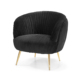Living Room Furniture One Seater Sofa Modern Gold Legs Fabric Leisure Arm Chair
