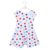 Patriotic Day Baby Boutique Clothing wholesale Children Clothes Star And Striped Printed Baby Girls Sleeveless Dress