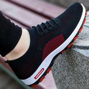 2019 Fashion OEM new style men casual sport running shoes black colour