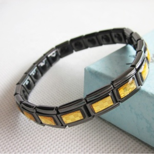 Black Gold Foil Positive Energy Bracelet/Power Band Energy Bangles Healthcare