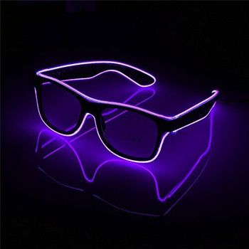 Hot sales Glow Glasses Purple Light Up Wire Glowing Party LED Sunglasses SF1188