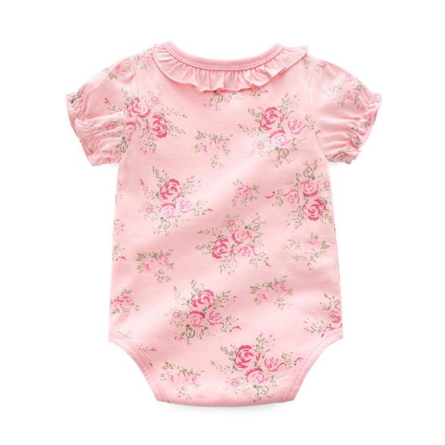 Summer cotton short sleeve cute newborn romper children's suit baby clothes фото