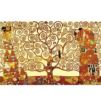 Klimt artwork canvas paintings of the tree of life for Modern Living Room Home Wall Decoration