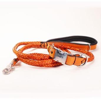 OEM expensive braided rope dog collar for dog