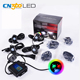 Auto lighting low voltage 4/6/8/12 pods RGB led rock light with music mode control by App