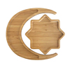 New Arrival 8 Pointed Star and Moon Shape Tray Biodegradable Food Tray Children Bamboo Tray