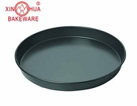 Factory Custom Bakeware pizza pan size 10' 9' 8' 6' baking pan non stick coating carbon steel baking tray