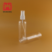 100ml Cylindrical Transparent PET Plastic Aerosol Spray Bottle Pocket Sized Perfume Spray Bottle Hair Aalon Spray Bottle