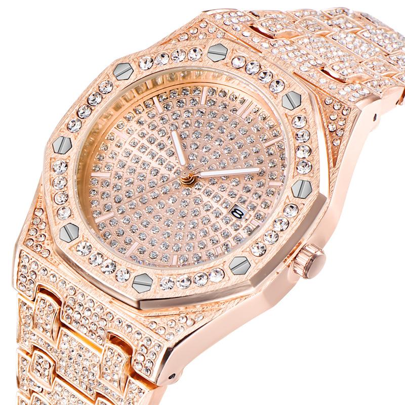 Alibaba.com / Luxury Diamond Fashion Shining Crystal Mens Quartz Date Watch Manufacturer Wholesale
