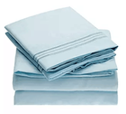 400 Thread Count 100% Cotton Sheet Set Light Grey Queen Sheets 4 Pieces Natural Best Cotton
