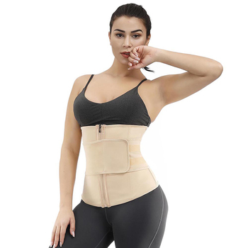 Women Belly Control Custom Logo Adjustable 7 Steels Support Compression Belt Waist Trainer Private Label