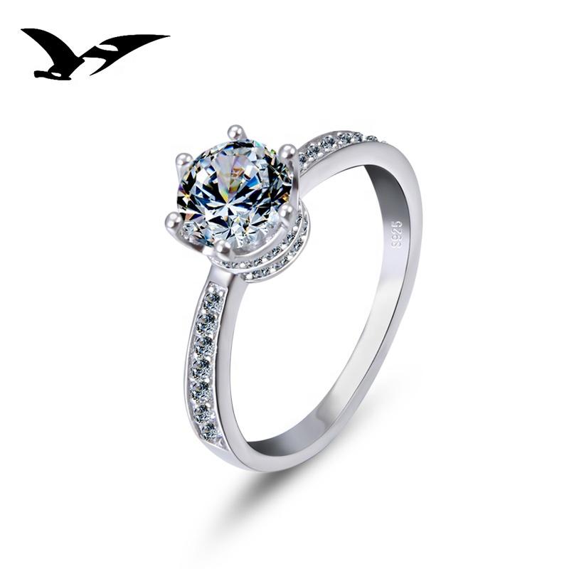 Zirkonia Wide Varieties Nice Damen-ring 925 Sterlingsilber Verlobungsring