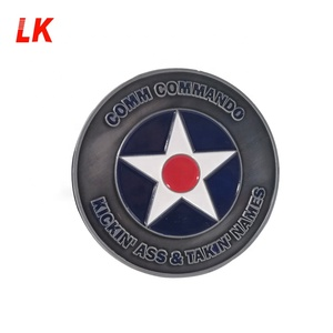Factory Price custom antique silver plating blanks Challenge Souvenir Coin with you design logo