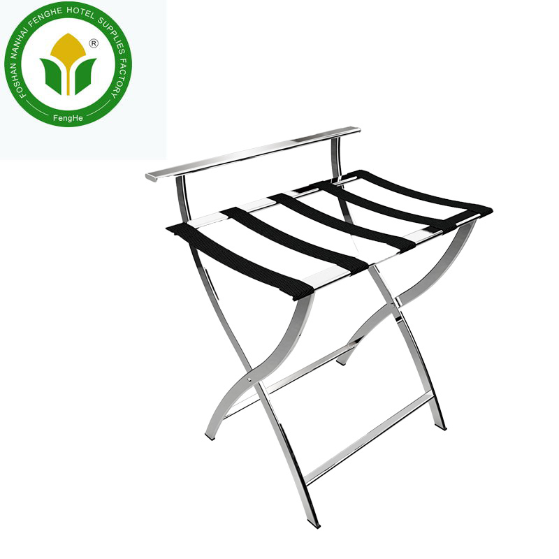 Fenghe newest hotel Stainless Steel Portable Luggage Rack Stand