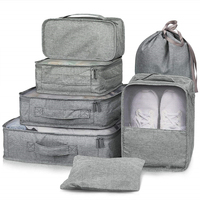 Best Selling 7Pcs Travel Bag Set Lightweight Packing Cubes For Outdoor Travel