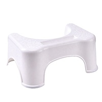 durable strong non-slip bathroom plastic toilet step stool