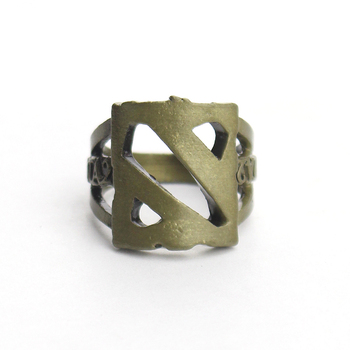 Dota 2 Logo Steel Rings For Dota 2 Game Fans Jewelry Men Ring Bronze Jewelry Accessories For Holder Gift