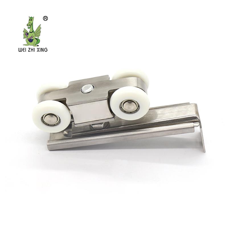 स्टेनलेस स्टील 201/304 चार पहिएदार फांसी स्लाइडिंग दरवाजा रोलर दरवाजा विंडोज के लिए फांसी पहिया