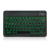 Black Universal Slim Portable Wireless Bluetooth 3.0 7-Colors Backlit Keyboard with Built in Rechargeable Battery