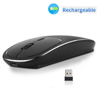 TV box slim wireless rechargeable mouse dpi receiver for laptop android linux windows vista