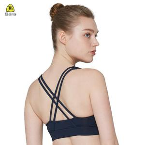 High quality gym clothing girls custom private label push up fitness tops sexy design sports bra for female