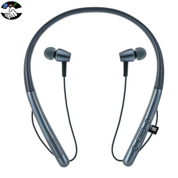latest new model handfree speaker wireless neck hang neckband bluetooth 5.0 sport gym headphones headset blutooth earphones 2019