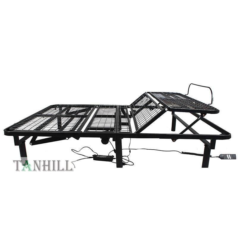 Motorized Electric Adjustable Folding Metal Bed Base Frame King