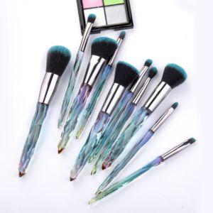 10Pcs Diamond Makeup Brushes Set Cosmetic Powder Foundation Eye Shadow Lip Eyebrow Colorful Makeup Brush kit