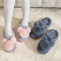 Winter Cute Cartoon Cotton Slipper Family Slipper Thnk Cotton Distribution