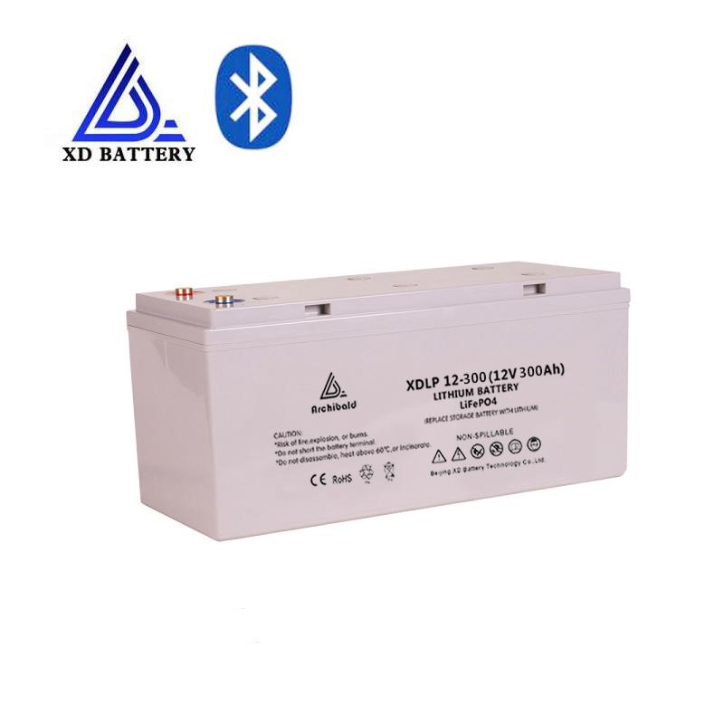 Hohe qualität wartung kostenloser wiederaufladbare lifepo4 12v 300ah 500ah lithium-batterie