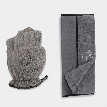 Fashionable Microfiber Dog Pet Dry Towel with Hand Pockets