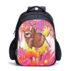 Wholesale lovely cartoon bookbag custom school 3d kids zoo animal backpack bags with lunch bag